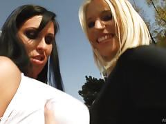 Zaisa shine - lisa sparkle lesbian fist babes on fist flush