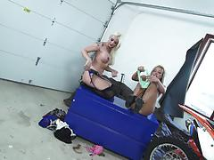 Lleya falcon and carmen caliente fucked doggystyle