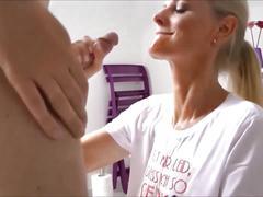German blonde likes pee & cum