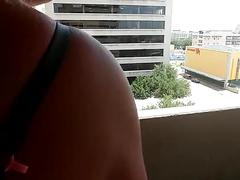 Hot couple fuck on balcon