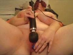 Feedee with amazing breasts solo