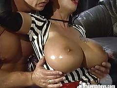 Big tits gangbang