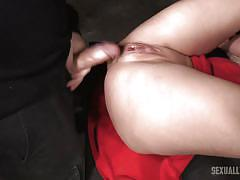Busty brunette darling tied and fucked hard