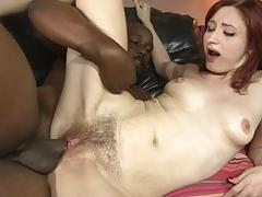 Kinky violet monroe smashed doggystyle by a black dick