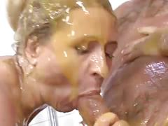Busty german blonde nurses fuck patient in slime