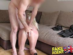 Sultry blonde with big tits gets bdsm