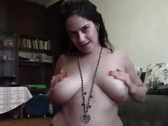 Mommy taboo striptease joi and pee in a bowl