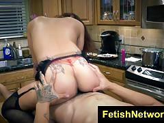 Jade jantzen fucks in the kitchen