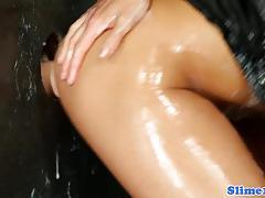 Sexy euro bukake slut facialized at the gloryhole