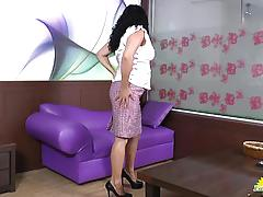 Old horny mature latina lucia playing