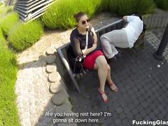 Fucking glasses - outdoor fuck in spycam glasses