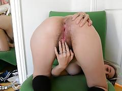 Ivy rubs her furry body