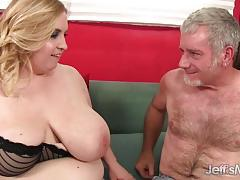 Sexy huge natural boobed girl fucked balls deep