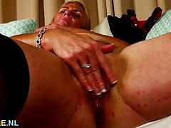 Randy housewife fingering herself