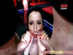 Naughty german girl gets punished bukkake gangbang