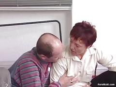 German redhead granny gets pounded