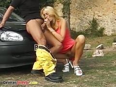 German babe outdoor sex