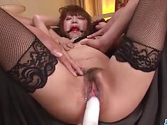 Kinky asian gets her pussy vibed