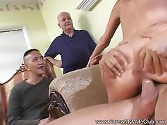 Kinky husband watches wife fuck a stranger