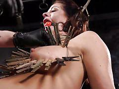 milf, bdsm, big tits, vibrator, tits torture, ball gag, clothespins, rope bondage, hogtied, kink, holly heart, the pope