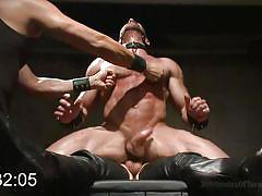 Tatum fucked hard in a bdsm game show