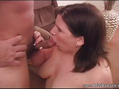 Amateur swallows this hard cock