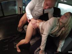 Fucked in traffic - wild car sex with hot hungarian blondie