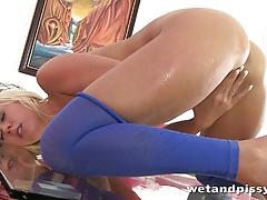Sensual blonde carla cox masturbating