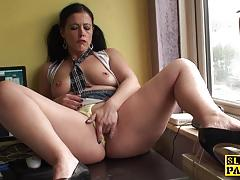 british, bdsm, fingering, solo, orgasm, schoolgirl, mature, uniform, fetish, pigtails, closeup
