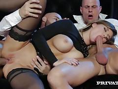 anna polina, brunette, blowjob, hardcore, big tits, cumshot, lingerie, facial, anal, busty, shaved, stockings, threesome, european, euro, deepthroat