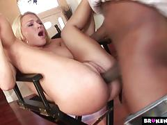 Blonde babe krissy lynn loves huge cock