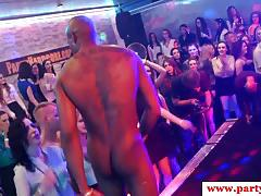 Kinky cocksucking party babe titfucked at euro orgy