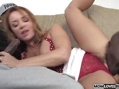 Mom janet mason takes two big black cocks