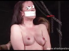 Cruel nipple torments and lesbian bdsm of slave caroline pierce in whipping and