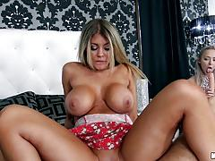 Cock riding kayla kayden while her friend watch