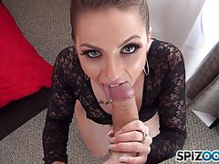 Horny alana summers blows hard dick