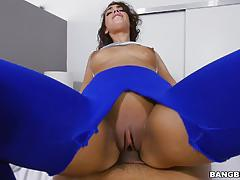 kitty catherine, blowjob, riding, doggystyle, latina, cowgirl, camera, pov, sucking