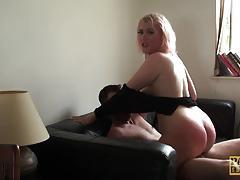 Kinky amateur doused with cum