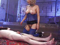 milf, anal, femdom, bdsm, big tits, whipping, fucking machine, corset, cock torture, blonde mistress, divine bitches, kink, cherry torn, slave fluffy