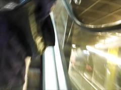 Teen ass inside of white tight jean close filmed