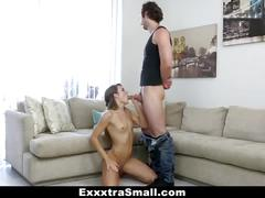 Exxxtrasmall - petite brunette fucked and thrown around