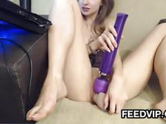Webcam cutie with toys