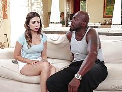 Melissa moore yearns for a big black dick