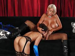 Sexy blonde bridgette b toys her hot assistant lana lovelace