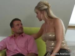 Fuck the blond milf anal style