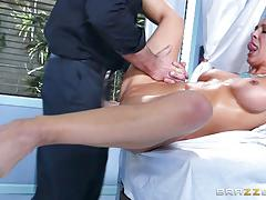 charles dera, cherie deville, blowjob, cumshot, hot, sexy, reverse cowgirl, doctor, sucking