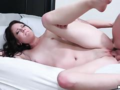riley renee, brunette, blowjob, fuck, doggystyle, cumshot, hot, sexy, sideways, spunk, sucking, fucking