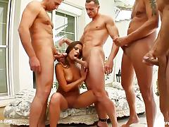Facial group for eva mendez on cum for cover