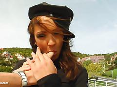 Pov style gonzo sex scene with naughty cop sabrina