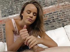 Babe alexis adams strokes this hard cock